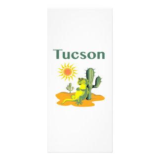Tucson Arizona Lizard under Saguaro Rack Card