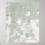 Tucson Arizona Map (1992) Poster