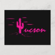 Tucson Arizona Neon Desert Nights Saguaro Cactus Postcard