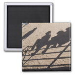 Tucson, Arizona: Shadows of Rodeo competitors 2 Inch Square Magnet