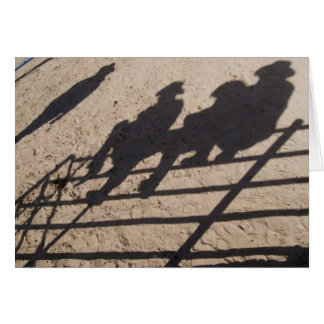Tucson, Arizona: Shadows of Rodeo competitors Card