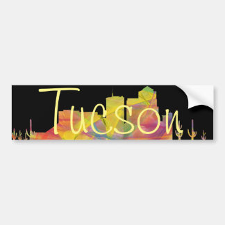 TUCSON, ARIZONA SKYLINE WB1 BUMPER STICKER