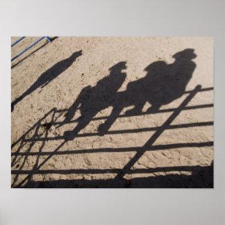 Tucson, Arizona: Sombras de los competidores del r Póster