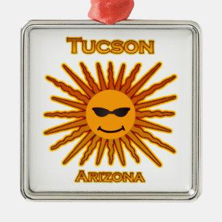 Tucson Arizona Text Logo Metal Ornament