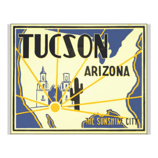 Tucson Arizona The Sunshine City, Vintage Flyer