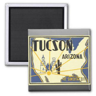 Tucson Arizona The Sunshine City, Vintage Refrigerator Magnet