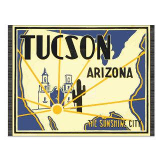 Tucson Arizona The Sunshine City, Vintage Postcard