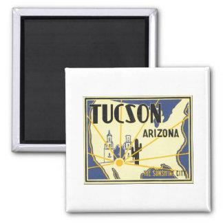 Tucson Arizona The Sunshine City Vintage Poster Refrigerator Magnets