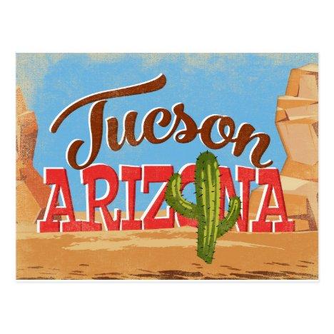 Tucson Arizona Vintage Travel Postcard