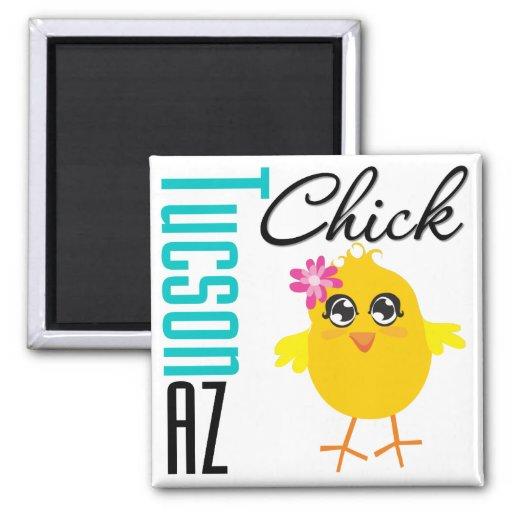Tucson AZ Chick Fridge Magnet