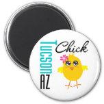 Tucson AZ Chick Refrigerator Magnets