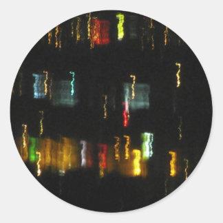 Tucson, AZ City Lights Abstract Photo Classic Round Sticker