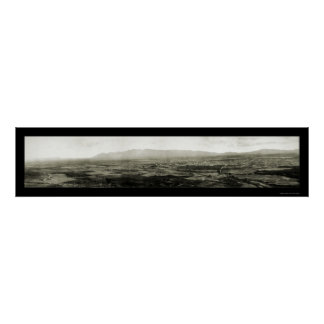 Tucson AZ Panoramic Photo 1909 Poster