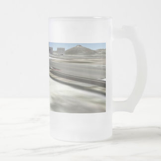 tucson downtown frosted glass beer mug