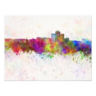 Tucson skyline in watercolor background fotografías