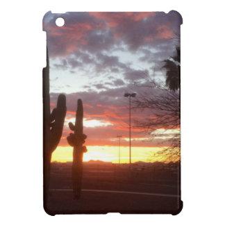 Tucson sunset with desert landscape. iPad mini covers
