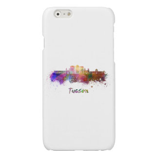 Tucson V2 skyline in watercolor Glossy iPhone 6 Case