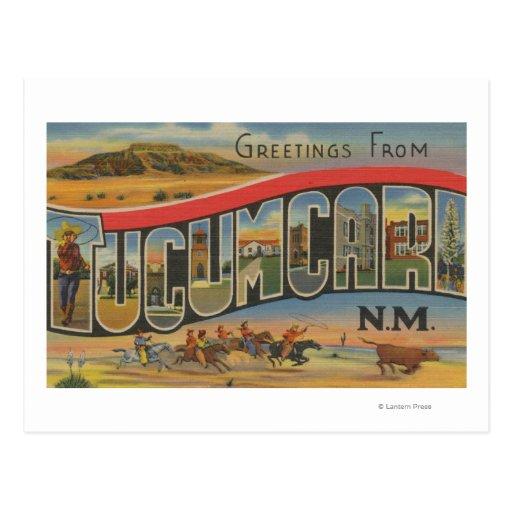 Tucumcari, New México - escenas grandes de la Tarjeta Postal