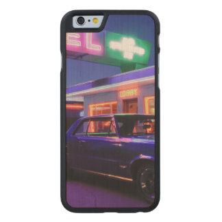 Tucumcari, New México, Estados Unidos. Ruta 66 2 Funda De iPhone 6 Carved® Slim De Arce