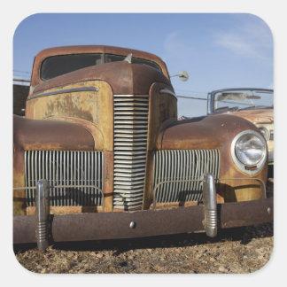 Tucumcari New México Estados Unidos Ruta 66 Colcomanias Cuadradass