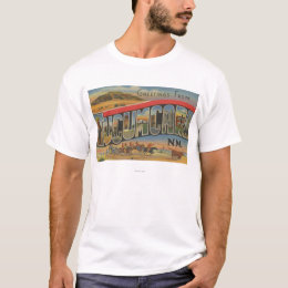Tucumcari, New Mexico - Large Letter Scenes T-Shirt