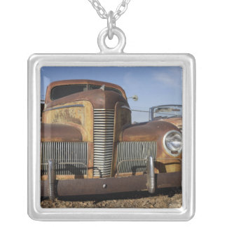 Tucumcari, New Mexico, United States. Route 66. Silver Plated Necklace