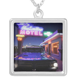 Tucumcari, New Mexico, United States. Route 66 Silver Plated Necklace