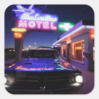 Tucumcari, New Mexico, United States. Route 66 Square Sticker