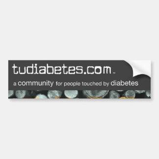 TuDiabetes.com Bumper Sticker |Grey Line| Car Bumper Sticker