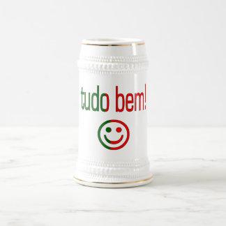 Tudo Bem! Portugal Flag Colors Beer Stein