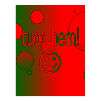 Tudo Bem! Portugal Flag Colors Pop Art Postcard