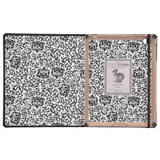 Tudor blanco y negro elegante cultiva un huerto iPad fundas