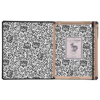 Tudor blanco y negro elegante cultiva un huerto iPad funda
