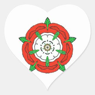 Tudor de Inglaterra subió Pegatina Corazon