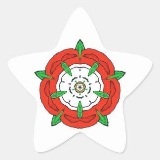 Tudor de Inglaterra subió Calcomanías Forma De Estrellaes