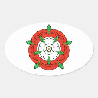 Tudor de Inglaterra subió Calcomania Óval Personalizadas