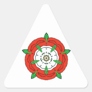 Tudor de Inglaterra subió Pegatinas De Triangulo