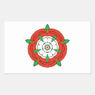 Tudor de Inglaterra subió Rectangular Pegatinas