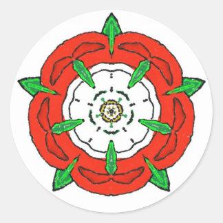 Tudor de Inglaterra subió Pegatina Redonda