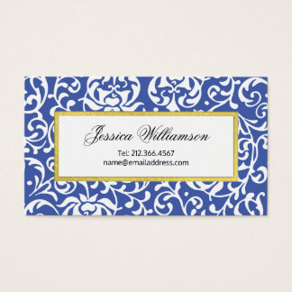 Tudor Gardens Elegant William Morris Inspired Business Card