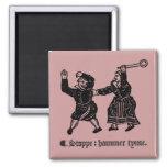 Tudor Hammer Time (magnet) 2 Inch Square Magnet