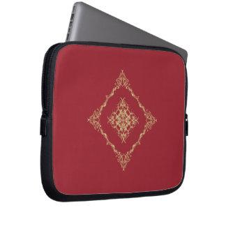 Tudor inspiró el oro y el fractal rojo 10 pulgadas manga portátil
