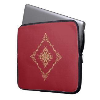 Tudor inspiró el oro y el fractal rojo 15 pulgadas mangas portátiles