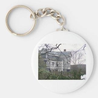 Tudor Basic Round Button Keychain