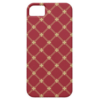 Tudor Red and Gold Diagonal Pattern iPhone SE/5/5s Case