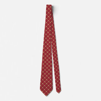 Tudor Red and Gold Diagonal Pattern Tie