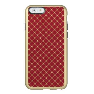 Tudor Red and Gold Diamond Pattern Incipio Feather Shine iPhone 6 Case