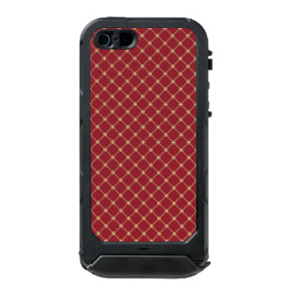 Tudor Red and Gold Diamond Pattern Waterproof iPhone SE/5/5s Case