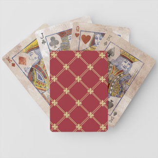 Tudor Red and Gold Pattern Deck Of Cards
