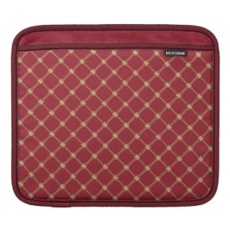 Tudor Red and Gold Pattern Sleeves For iPads